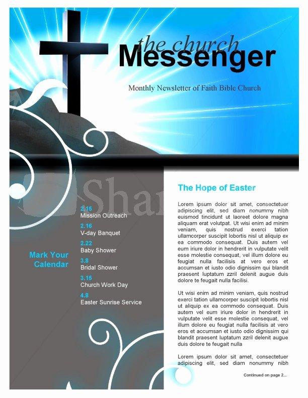 Free Church Bulletin Templates Microsoft Publisher Luxury Church Cross Newsletter Template