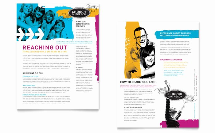 Free Church Bulletin Templates Microsoft Publisher Unique Creative Church Bulletins & Christian Newsletters