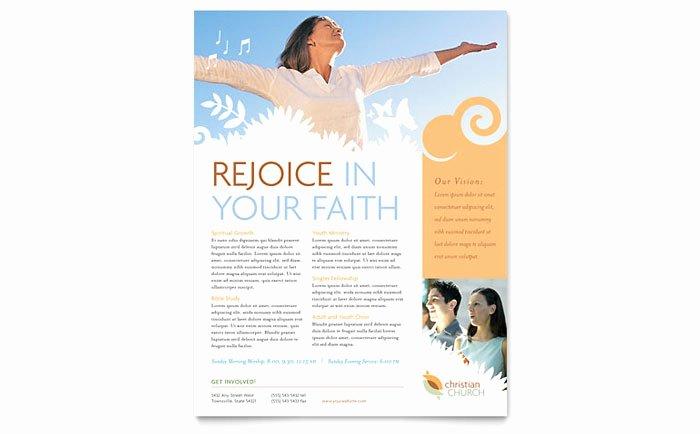 Free Church Flyer Templates Microsoft Word Inspirational Christian Church Flyer Template Design