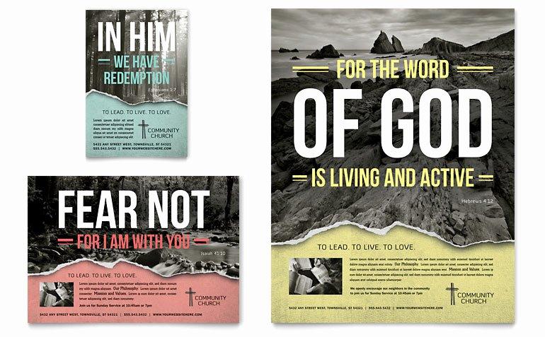 Free Church Flyer Templates Microsoft Word New Bible Church Flyer & Ad Template Word & Publisher