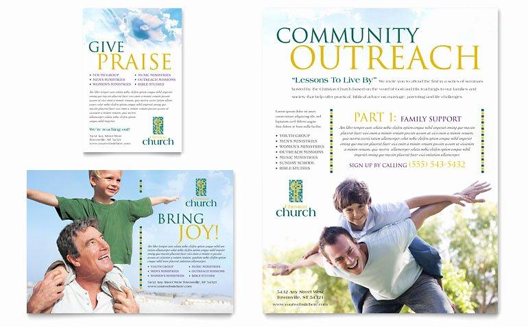 Free Church Flyer Templates Microsoft Word Unique Christian Church Flyer & Ad Template Word & Publisher
