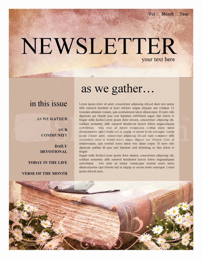 Free Church Newsletter Templates for Microsoft Publisher Elegant 15 Free Church Newsletter Templates Ms Word Publisher