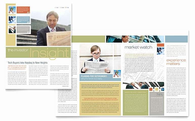 Free Church Newsletter Templates for Microsoft Publisher Inspirational Investment Advisor Newsletter Template Word & Publisher