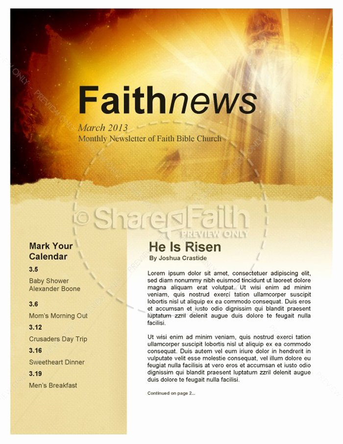 Free Church Newsletter Templates for Microsoft Publisher Luxury 15 Free Church Newsletter Templates Ms Word Publisher