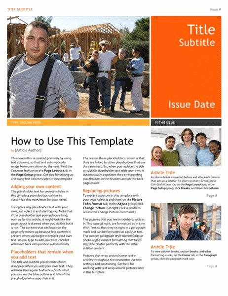 Free Church Newsletter Templates for Microsoft Publisher New Newsletter