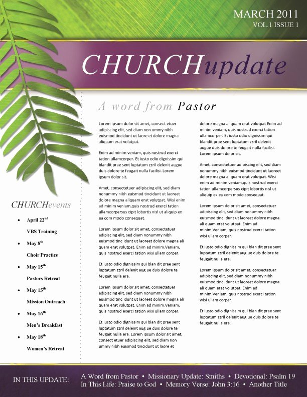 Free Church Newsletter Templates for Microsoft Publisher New Palm Sunday Church Newsletter Template Template