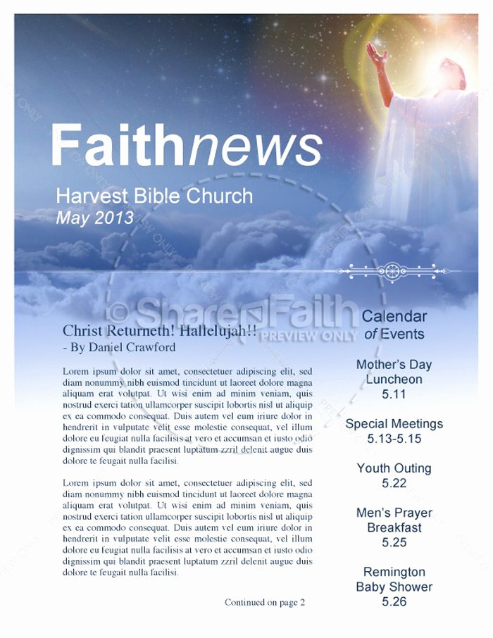 Free Church Newsletter Templates for Microsoft Publisher Unique 15 Free Church Newsletter Templates Ms Word Publisher