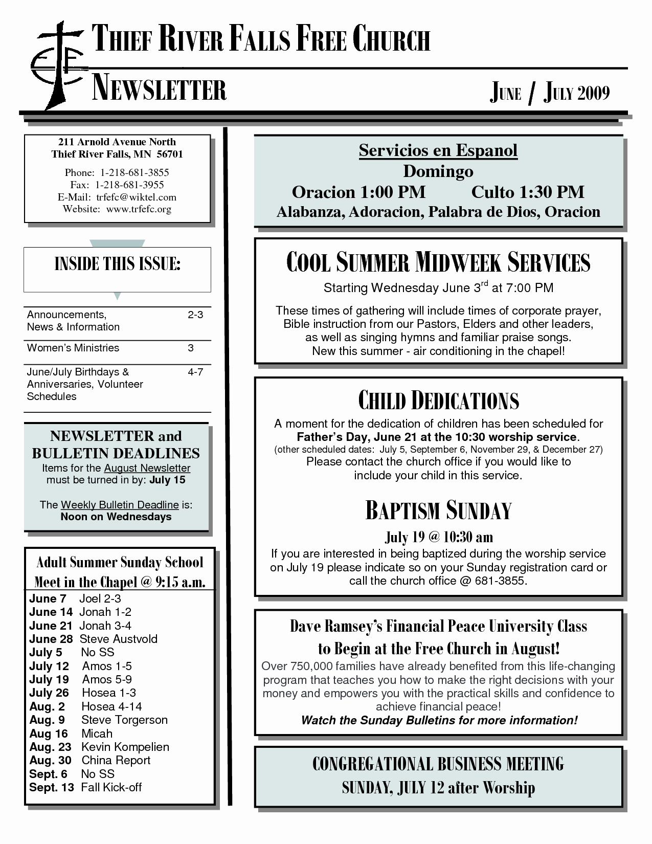Free Church Newsletter Templates for Microsoft Publisher Unique 8 Best Of Church Newsletter format Youth Church