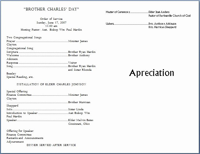 Free Church Program Template Microsoft Word Best Of Church Bulletin Templates
