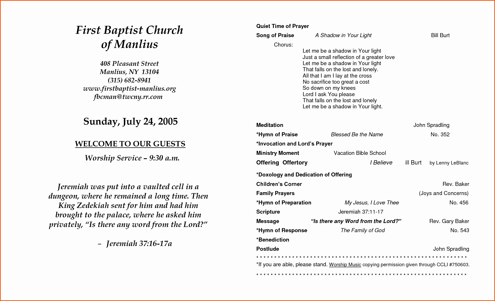 Free Church Program Template Microsoft Word Elegant 7 Church Anniversary Program Templatememo Templates Word