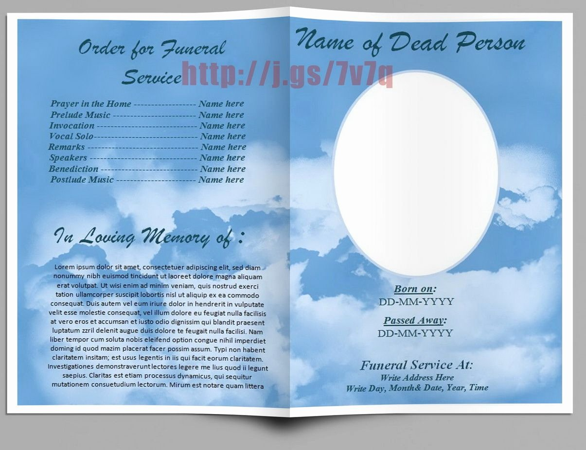 Free Church Program Template Microsoft Word Elegant Pin by Robert Della Spina On Funeral