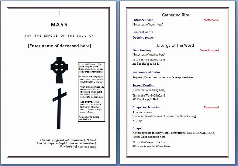 Free Church Program Template Microsoft Word Fresh Free Funeral Program Template – Microsoft Word Templates