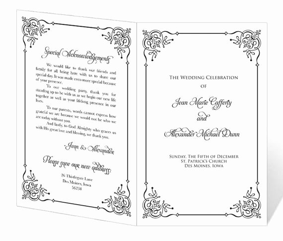 Free Church Program Template Word Best Of Wedding Program Template Printable Instant Download