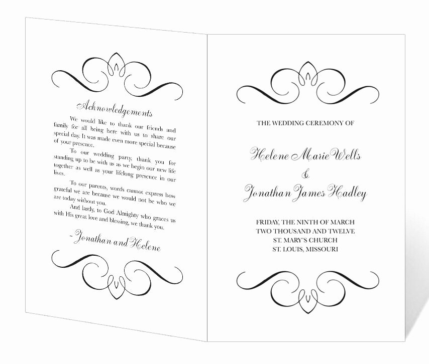 Free Church Program Template Word Fresh Wedding Program Template Printable Instant Download
