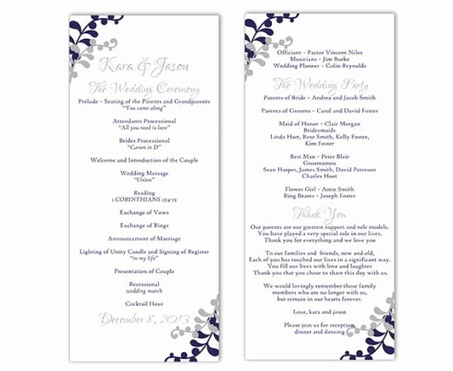 Free Church Program Template Word Luxury Wedding Program Template Diy Editable Word File Instant