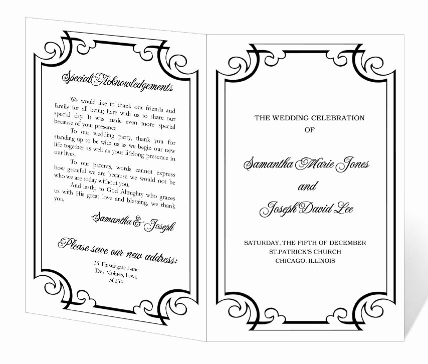 Free Church Programs Template Awesome Wedding Program Template Printable Instant Download