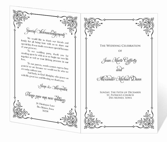 Free Church Programs Template Beautiful Wedding Program Template Printable Instant Download