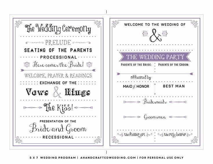 Free Church Programs Template Fresh Best 25 Wedding Program Templates Ideas On Pinterest
