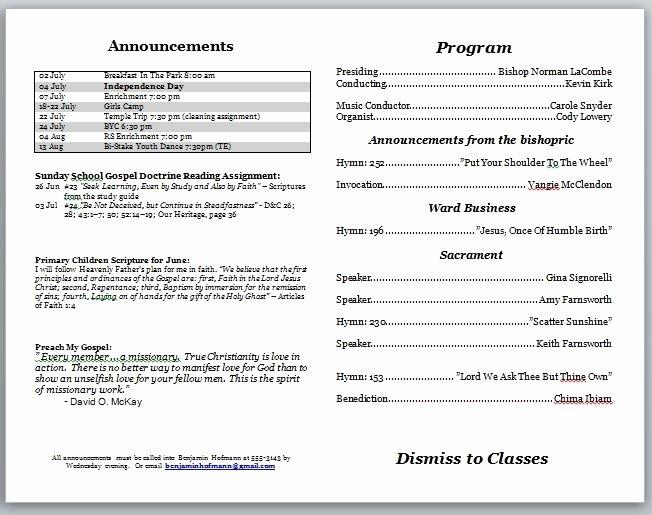 Free Church Programs Template Fresh Free Printable Church Program Template Invitation Template
