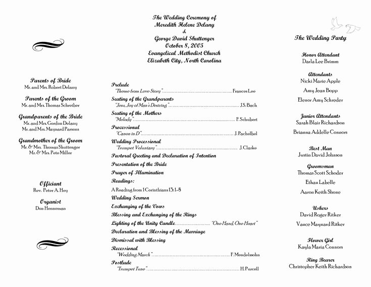Free Church Programs Template Luxury 17 Best Ideas About Wedding Program Samples On Pinterest