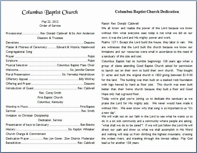 Free Church Programs Template Luxury Church Bulletin Templates