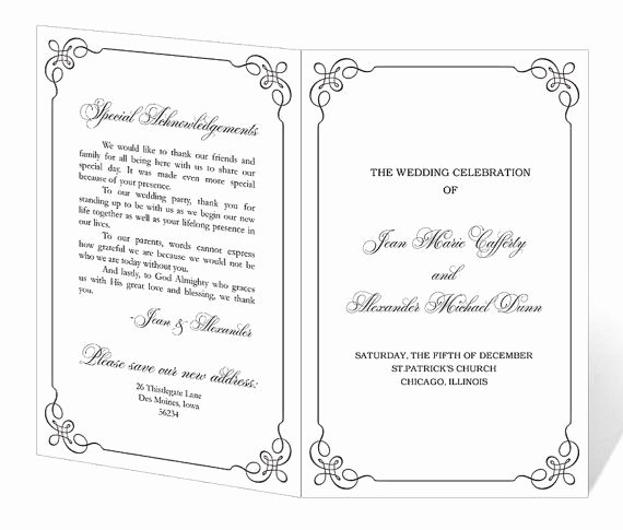 Free Church Programs Template Luxury Wedding Program Template Printable Instant Download