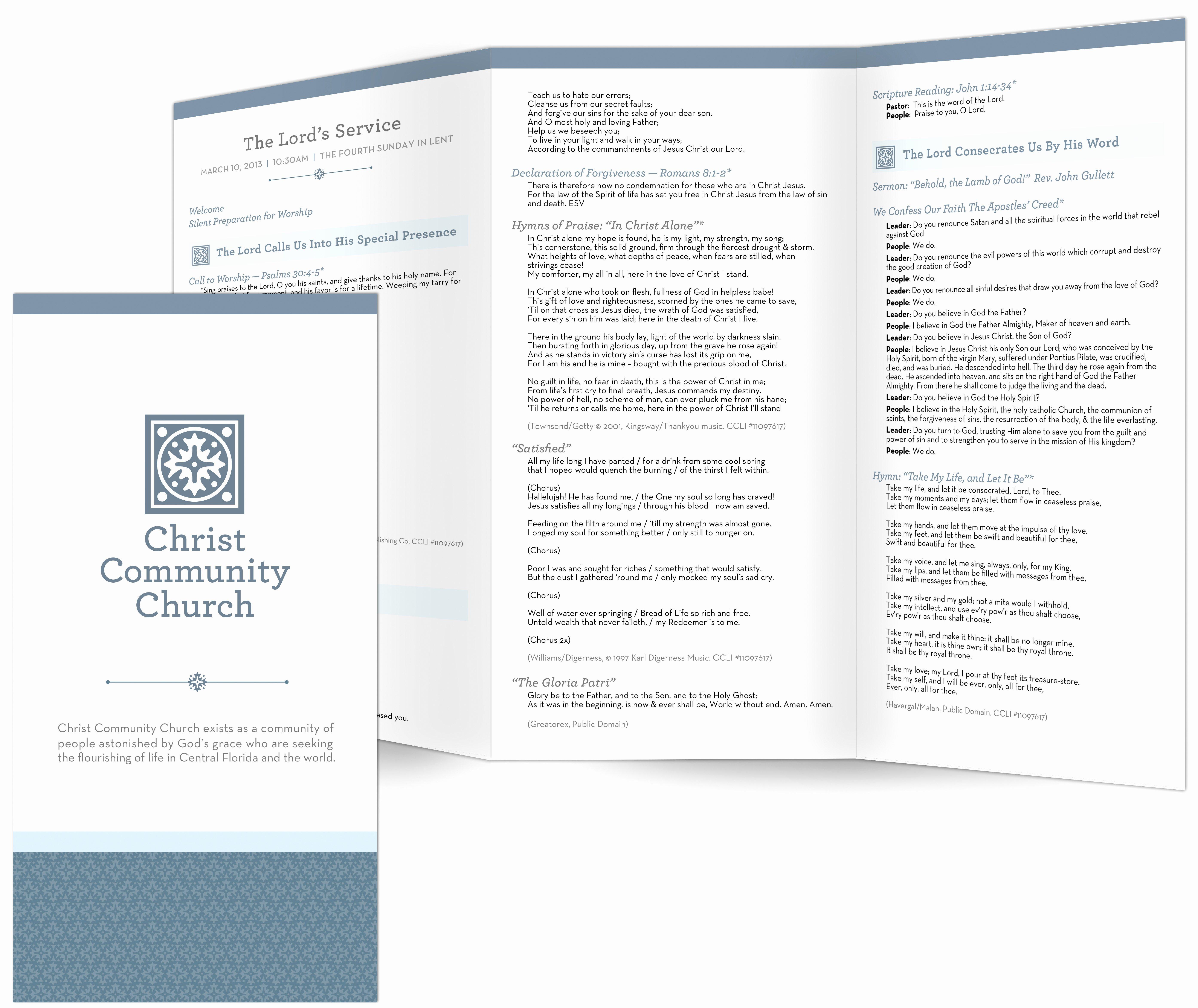 Free Church Programs Template Unique Church Bulletin Templates
