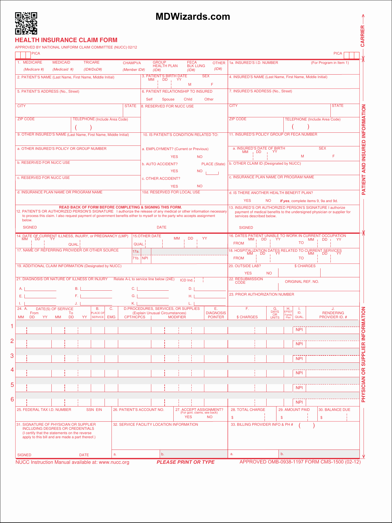 Free Cms 1500 Template for Word Luxury Hcfa 1500 form Olalaopx