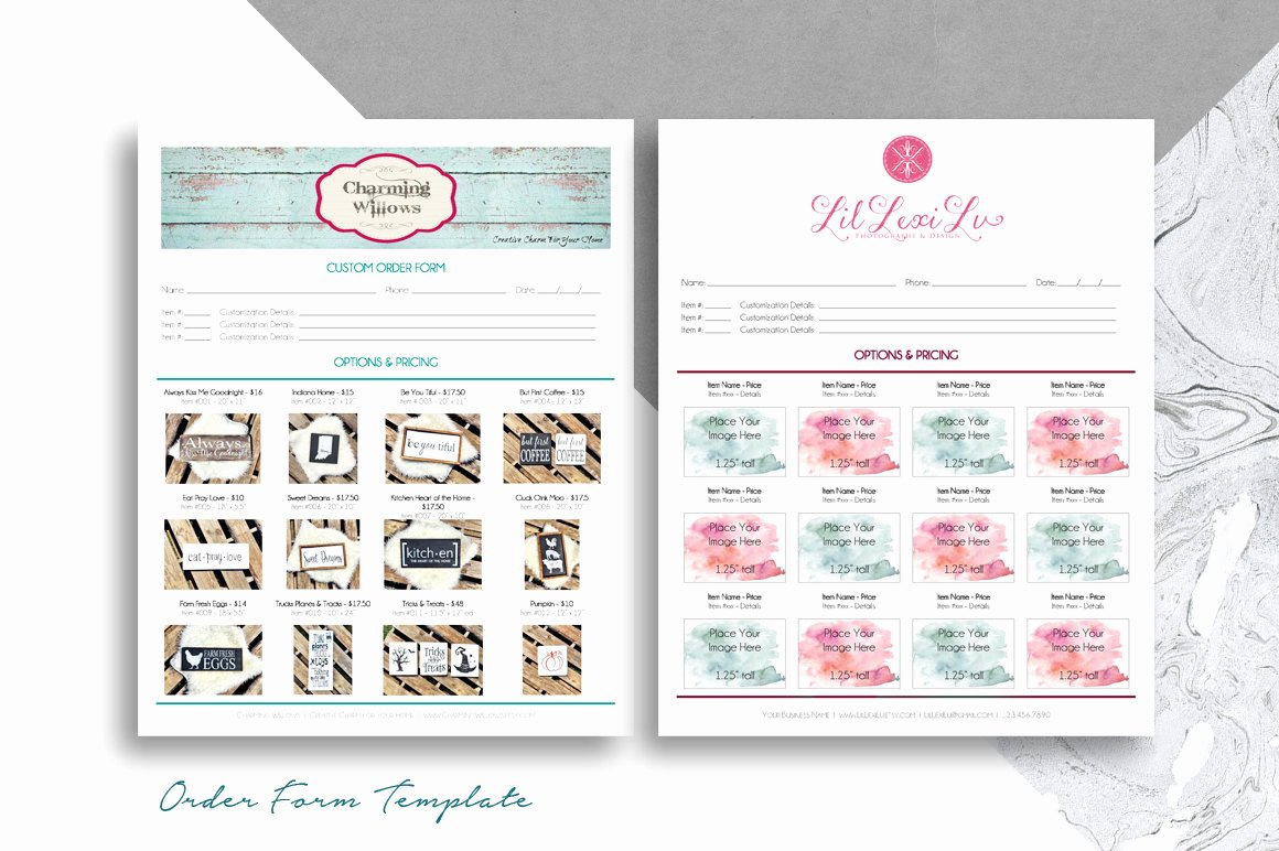 Free Craft order form Template Awesome order form Template for Boutiques & Craft Shows Printable 8 5