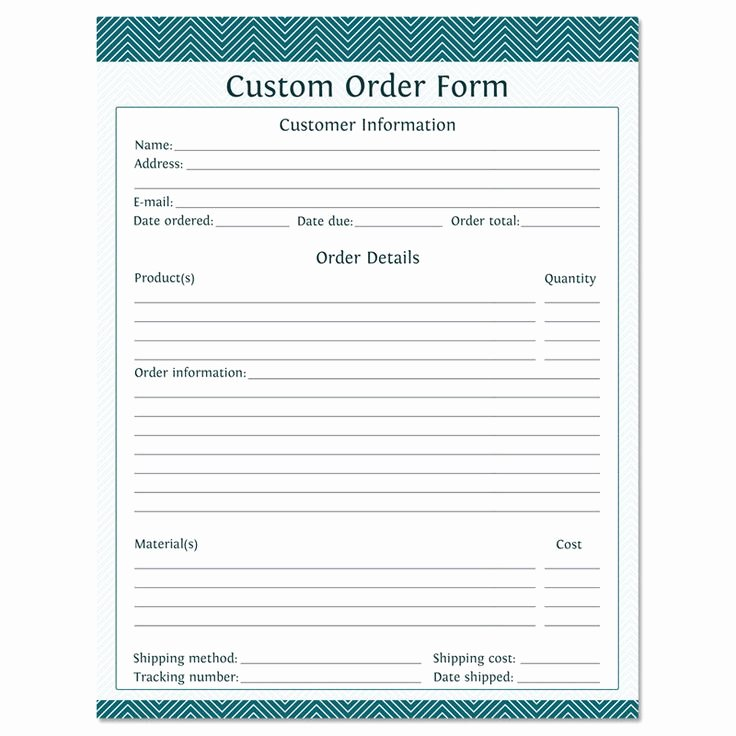 Free Craft order form Template Awesome the 25 Best order form Ideas On Pinterest