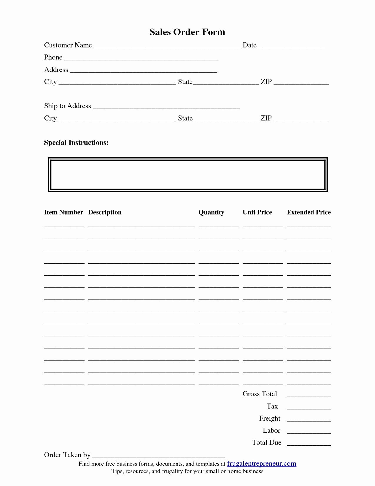 Free Craft order form Template Beautiful Scope Of Work Template order form