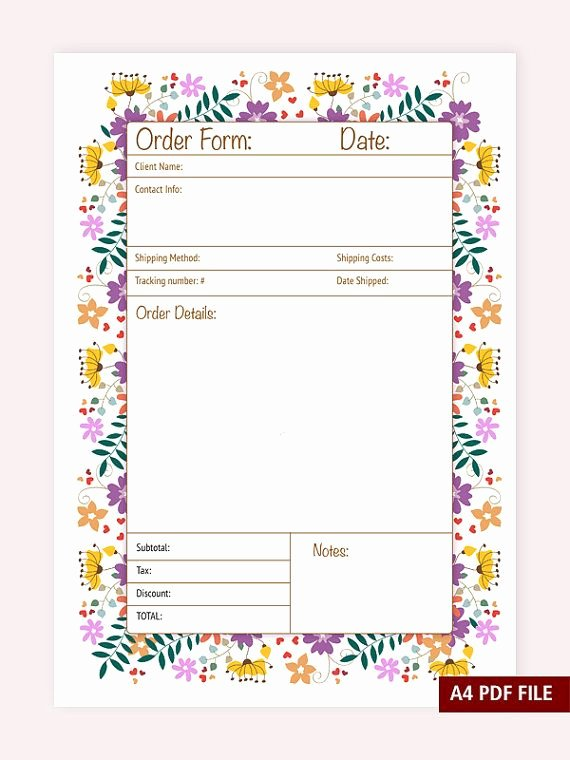 Free Craft order form Template Fresh Best 25 order form Ideas On Pinterest
