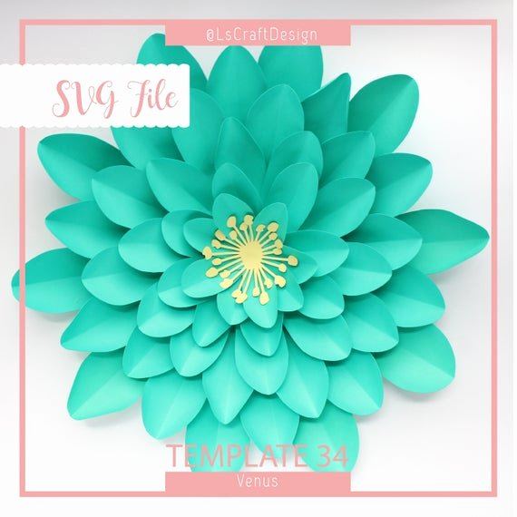 Free Cricut Paper Flower Template Awesome Svg Paper Flower Template Giant Paper Flower Templates Paper