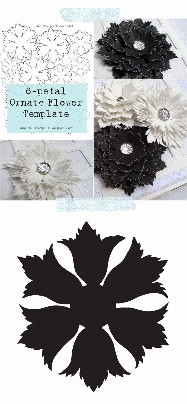 Free Cricut Paper Flower Template Elegant 140 Best Images About Diy Flower Templates On Pinterest