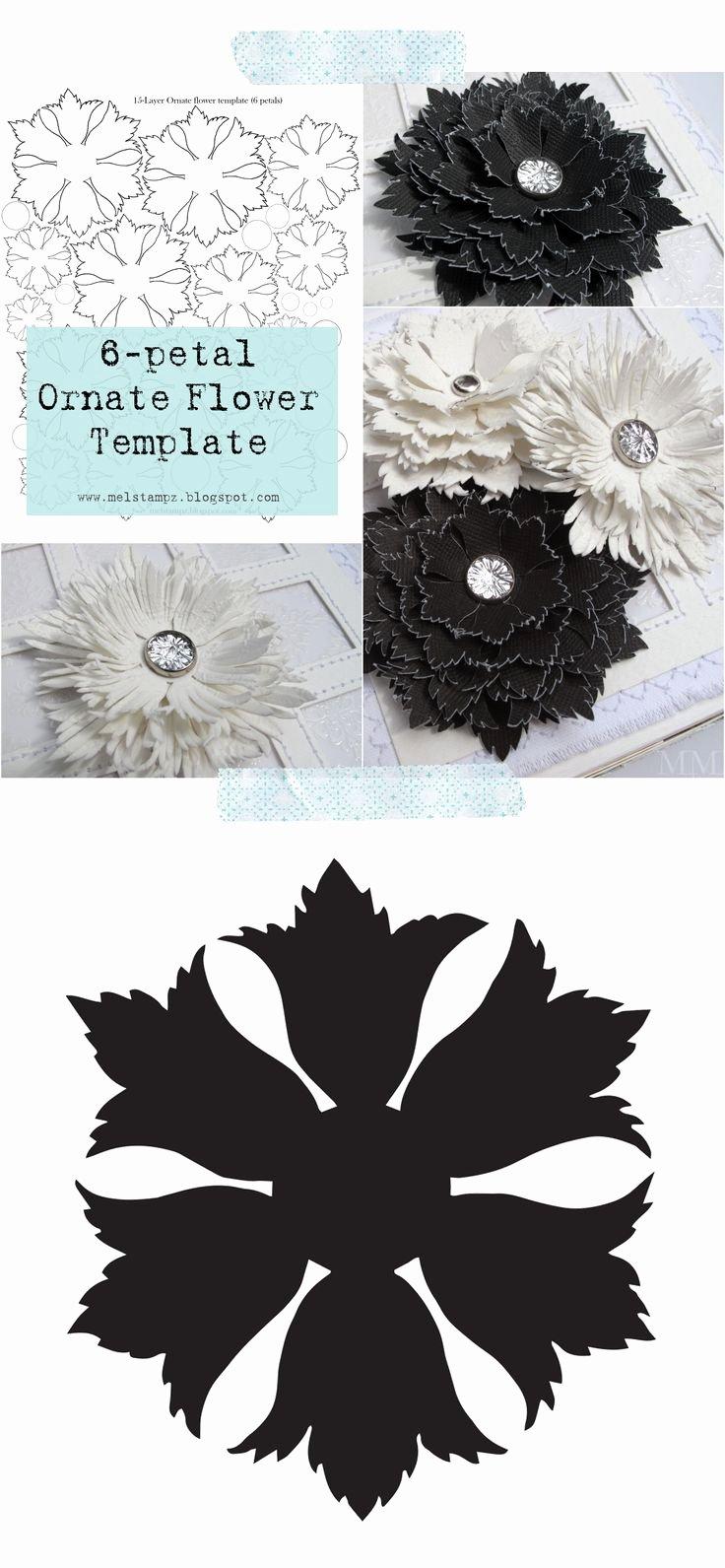 Free Cricut Paper Flower Template Elegant 140 Best Images About Diy Flower Templates On Pinterest