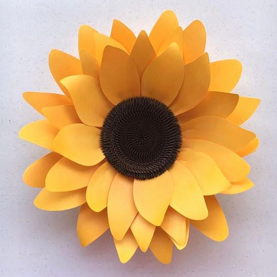 Free Cricut Paper Flower Template New Diy Sunflower Paper Flower Template for Silhouette or