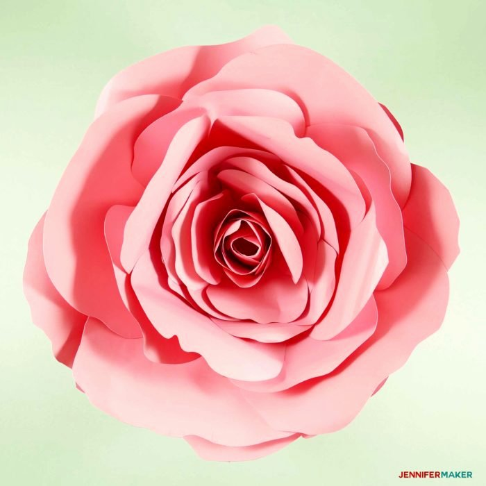 Free Cricut Paper Flower Template New Giant Flower Spellbound Rose Every Petal is Unique