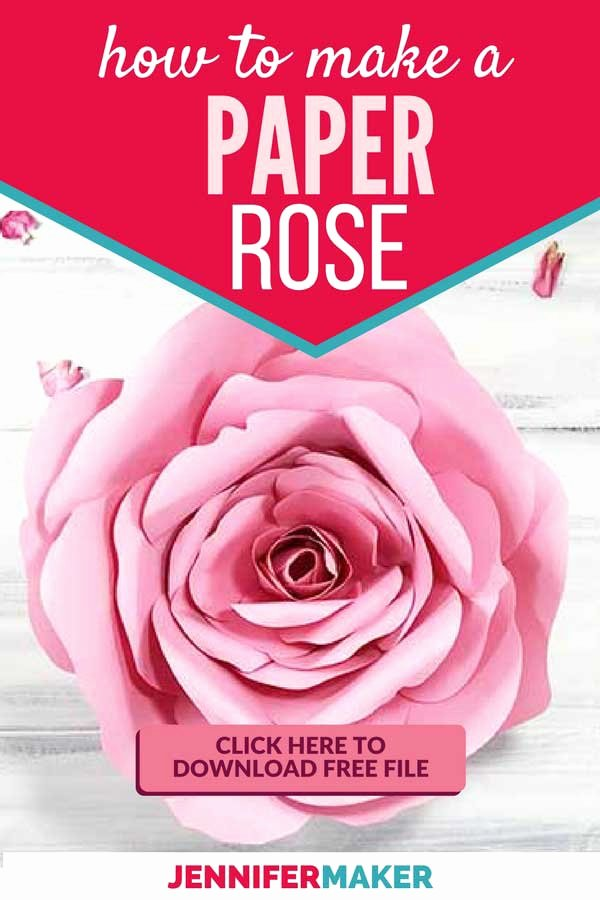 Free Cricut Paper Flower Template Unique Giant Flower Spellbound Rose Every Petal is Unique
