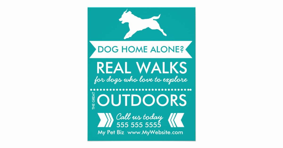 Free Dog Walking Flyer Template Awesome Dog Walker Flyer Personalizable