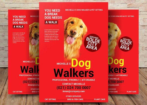 Free Dog Walking Flyer Template Best Of 15 Dog Walker Flyer Templates Free & Premium Download