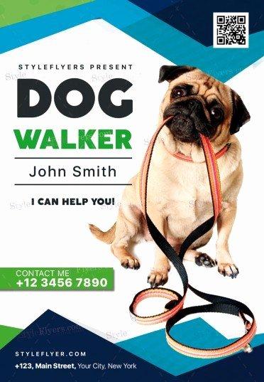 Free Dog Walking Flyer Template Best Of Dog Walker Psd Flyer Template Styleflyers