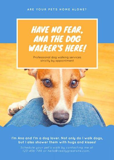Free Dog Walking Flyer Template Fresh Customize 76 Dog Walker Flyer Templates Online Canva