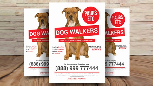 Free Dog Walking Flyer Template Inspirational 26 Dog Walker Flyer Templates Free & Premium Psd Vector
