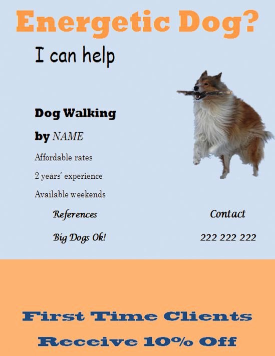 Free Dog Walking Flyer Template New 25 Dog Walking Flyers for Small Dog Sitting Businesses