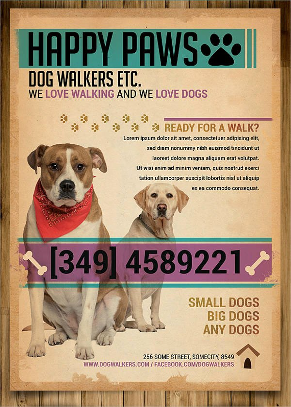Free Dog Walking Flyer Template Unique 15 Dog Walking Flyer Templates Psd Vector Eps Ai