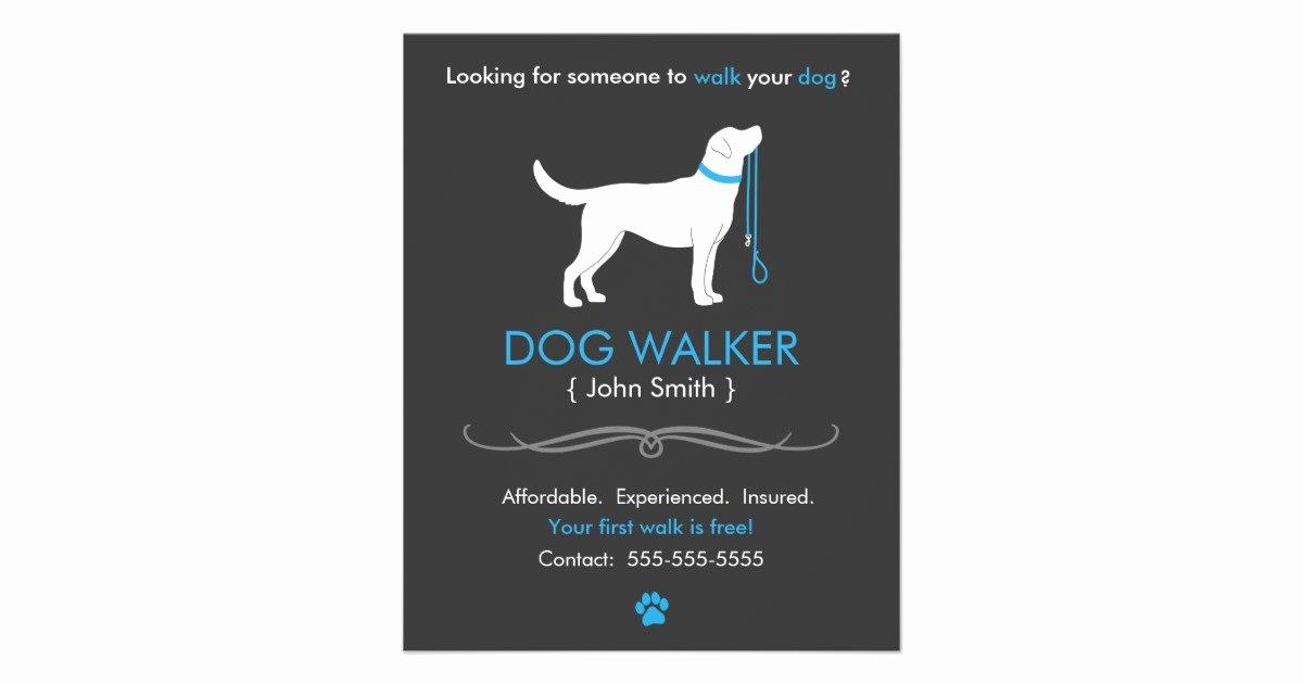Free Dog Walking Flyer Template Unique Dog Walker Walking Business Flyer Template Small