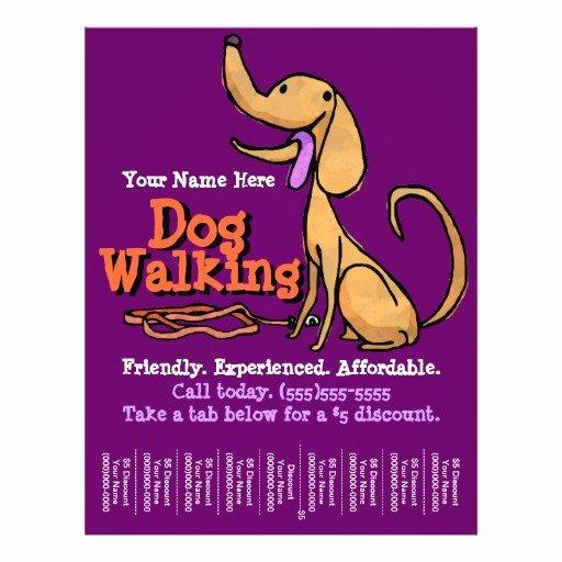Free Dog Walking Flyer Template Unique Dog Walking Advertising Promotional Flyer