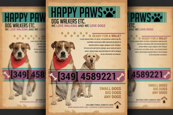 Free Dog Walking Flyer Template Unique Free Grooming Business Flyer Template Designtube