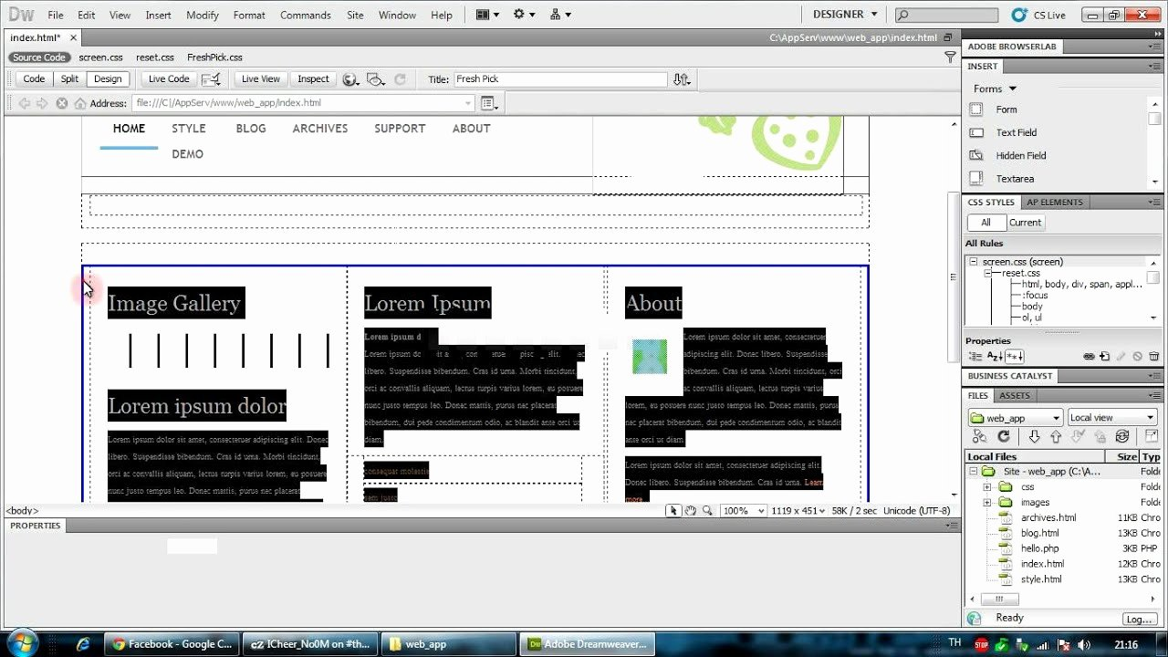Free Dreamweaver Templates Cs5 New การสร้าง Template ใน Dreamweaver Cs5