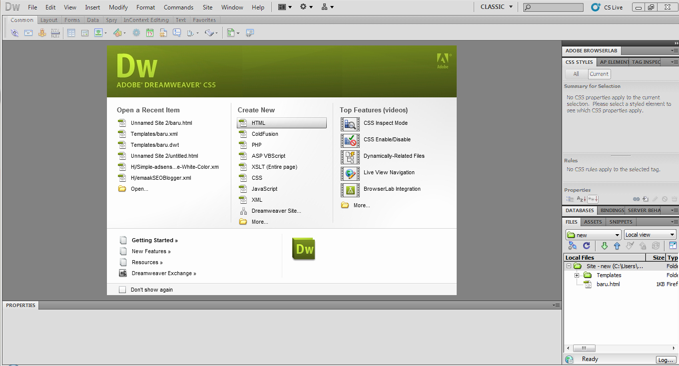 Free Dreamweaver Templates Cs5 New Pengenalan Dreamweaver